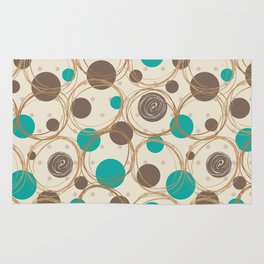 Brown and turquoise Rug