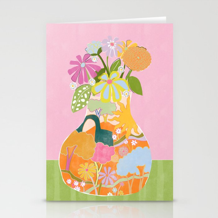 Colourful Garden Stationery Cards