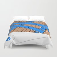 saga Duvet Covers featuring FOOTPATROL X ASICS - GEL SAGA by SNEAKERPILLOW