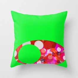 SexyPlexi dots on green  Throw Pillow