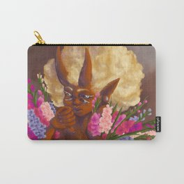 Demon holding gladioli. Carry-All Pouch