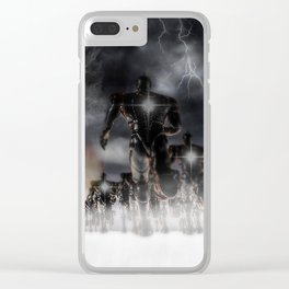 Soldiers Of Virtue Clear iPhone Case