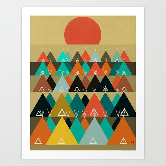 Tipi Moon Art Print