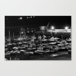 those boats look drunk. Canvas Print