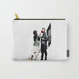 Banksy, Anarchist Punk And His Mother Artwork, Posters, Prints, Bags, Tshirts, Men, Women, Kids Carry-All Pouch