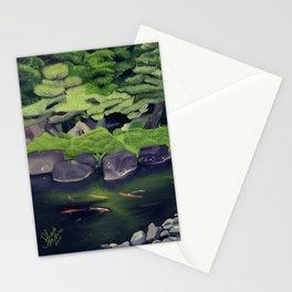 The Koi of Koko-en Garden Stationery Cards