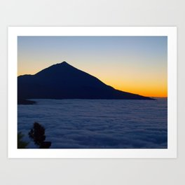 Teide volcano and sea of clouds in Tenerife, Canary Islands Art Print