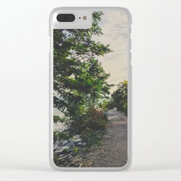 Adventure road Clear iPhone Case