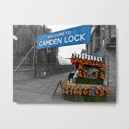 Welcome to Camden Lock Metal Print