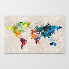 World Map 48 Canvas Print