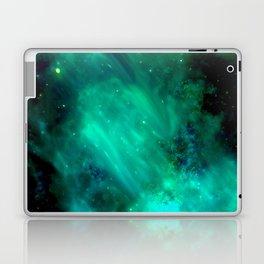 Teal Blue Indigo Sky, Stars, Space, Universe, Photography Laptop & iPad Skin
