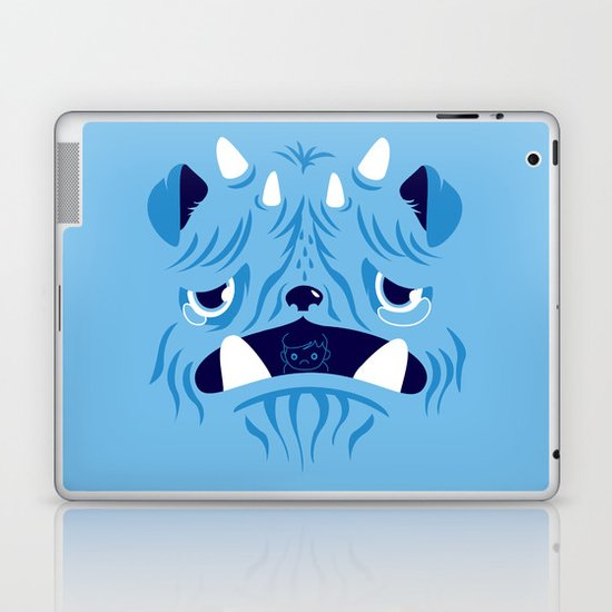 The Bluest Monster Ever :(( Laptop & iPad Skin