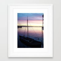 oslo Framed Art Prints featuring Sunset Oslo by Samantha Snyder