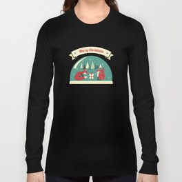Christmas Foxes Long Sleeve T-shirt