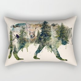 Wolf is the Pride of Nature Rectangular Pillow