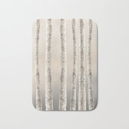 Birches-Winter Bath Mat