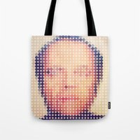 jack nicholson Tote Bags featuring Jack of dots by lev man