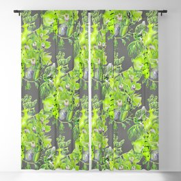 Chartreuse pattern Blackout Curtain