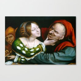 Quentin Matsys Ill-Matched Lovers Canvas Print