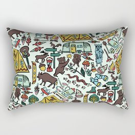 Whimsical Wilderness Rectangular Pillow