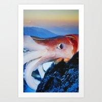 cthulhu Art Prints featuring Cthulhu by John Turck