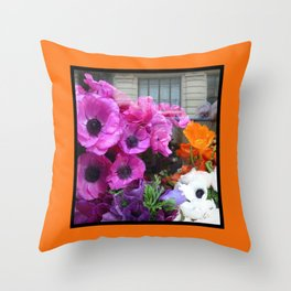 Flower Shop Window Throw Pillow