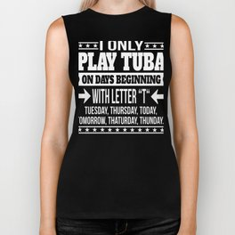 Tuba Player Cool And Funny Gift  Biker Tank