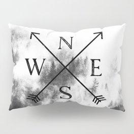 Foggy Forest Compass Pillow Sham