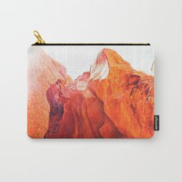 texture of the orange rock and stone at Antelope Canyon, USA Carry-All Pouch