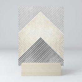 Golden polygon XIV Mini Art Print
