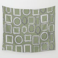 frames Wall Tapestries featuring picture frames herb by Sharon Turner