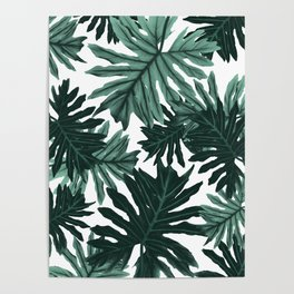 Philo Hope - Tropical Jungle Leaves Pattern #6 #tropical #decor #art #society6 Poster