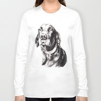 charlie Long Sleeve T-shirts featuring Charlie by Hana Robinson