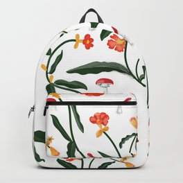 Mushrooms and Flowers Hanging Out Backpack
