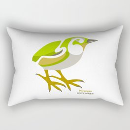 Rock Wren New Zealand Bird Rectangular Pillow