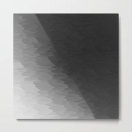 Dark Gray Texture Ombre Metal Print