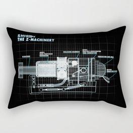 The Z-Machinery - Technical Blueprint Rectangular Pillow