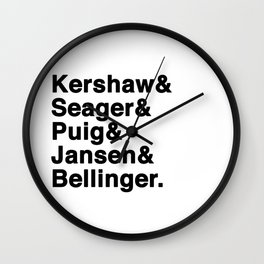 The Dodgers Five Wall Clock
