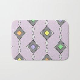 Retro Diamond Pattern - Mid Century, pastel, design Bath Mat