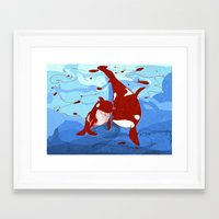 killer whale Framed Art Prints featuring killer whale by Elettra