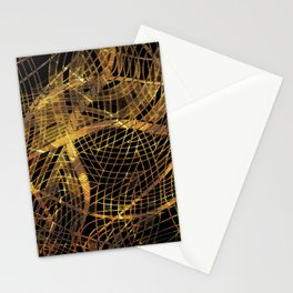 Gold Leaf Layered Gossamer 3D Abstract Stationery Cards