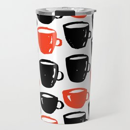Quirky cool coffee cups pattern Travel Mug