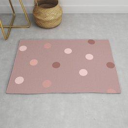 Rose-gold polka dots pattern Rug