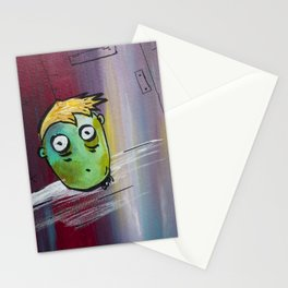 Locked in a room of doom. Stationery Cards