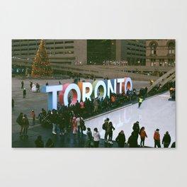 Christmas Downtown 35mm Canvas Print