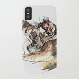 Totem: Asian small-clawed otter (c) 2017 iPhone Case