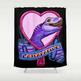 Mascaraptor Shower Curtain