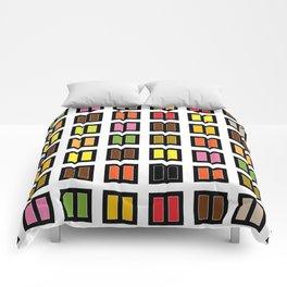 windows at night Comforters
