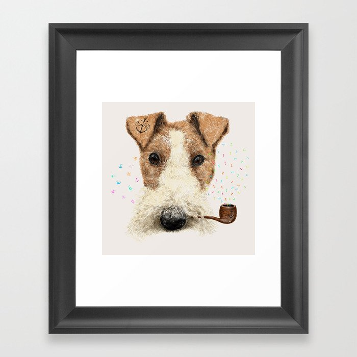 fox terrier sailor Framed Art Print
