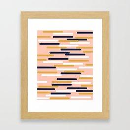 Britt - Modern pattern design perfect cell phone gift for trendy modern college dorm room decor Framed Art Print